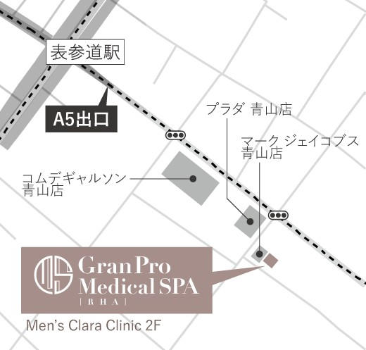 表参道店の地図